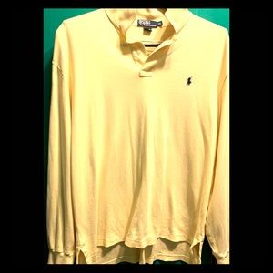 EUC POLO RALPH LAUREN YELLOW XL LONG SLV PULLOVER